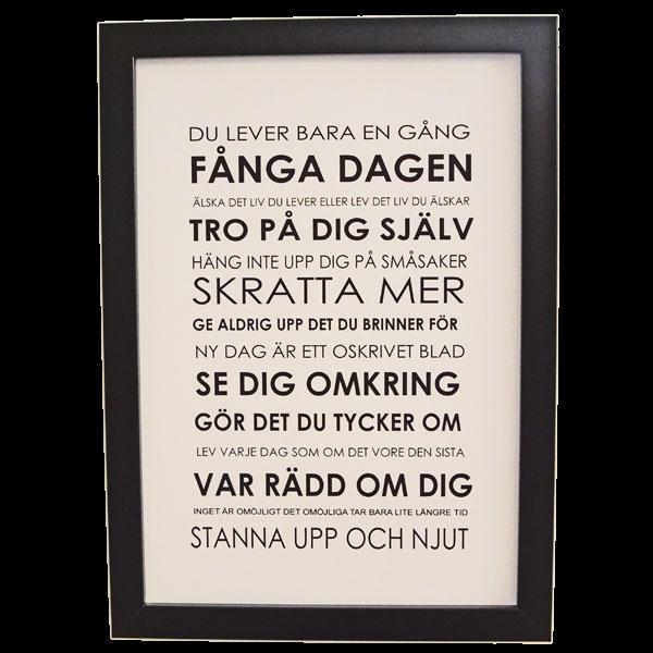tavlor med ordspråk